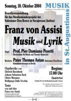 Franz von Assisi - Musik und Lyrik